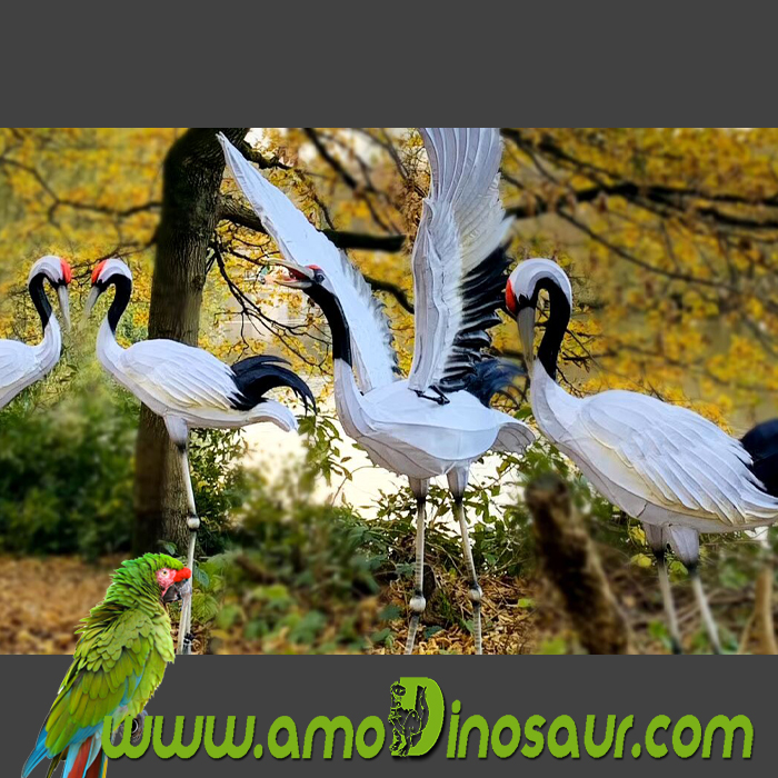 red-crowned crane lanterns for show
