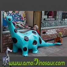 Smaill size colorful dinosaur cartoon  for Children riding