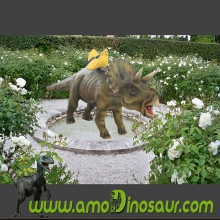 Educational amusement triceratops dinosaur ride manufacturer