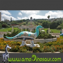Lifesize dinosaurs cartoons statues for decorate galleries
