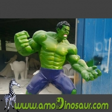 Custom FRP life-sized Hulk of green superhero cartoon figure