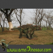 Fine handcrafted life size robotic dinosaurs ankylosaurus for sale