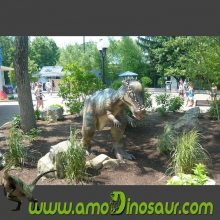 Colored animatronic dinosaurs pachycephalosaurs real size for garden
